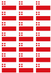 Utrecht Flag Stickers - 21 per sheet